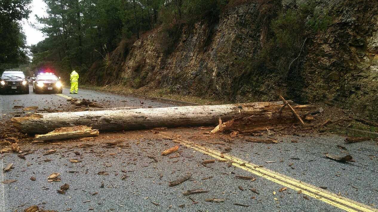The storm caused a mess on one Monterey road. (Dec. 22, 2015)