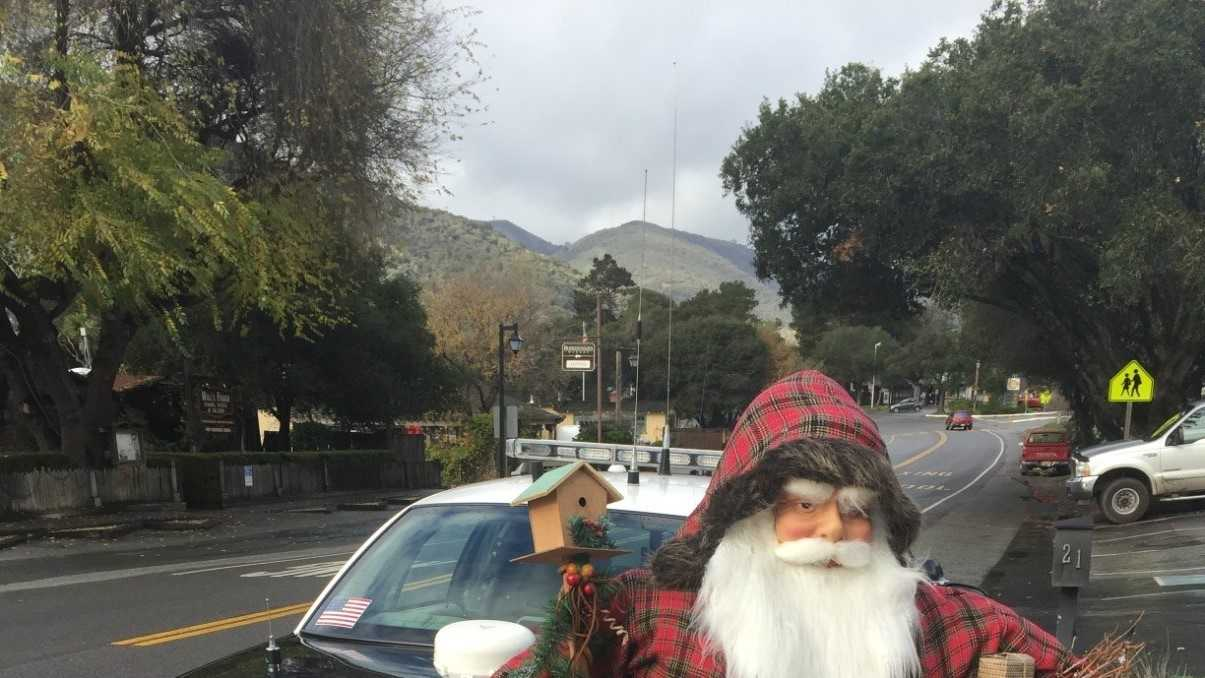 The livesize Santa Claus statue stolen from a Carmel valley business has been found and returned to its owner