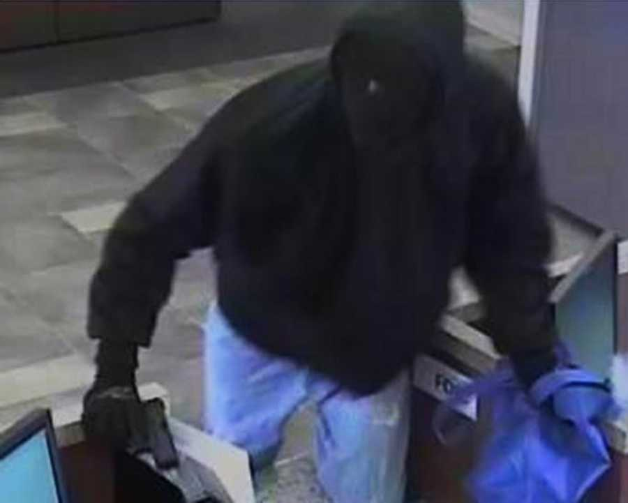 CAMPBELL - On November 21, 2015, two men robbed the Wells Fargo Bank located at 1790 South Bascom Avenue in Campbell. The men were armed with guns. They entered the bank and demanded everyone get on the floor. One of the suspects forced bank employees to open the vault. Money from the vault was placed into a black bag and a blue reusable grocery bag.