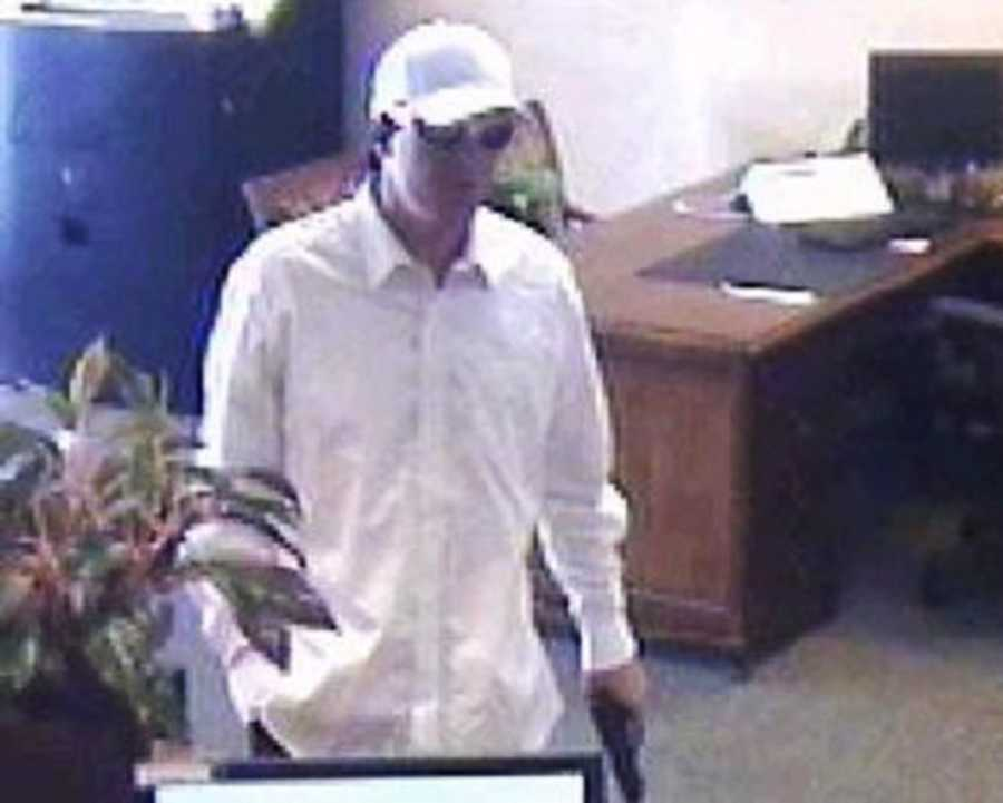 FELTON - On July 13, 2015, a white man entered the Liberty Bank located at 6230 Highway 9, Felton, and brandished a handgun. He threatened the employees and customers, took hostages, and robbed the bank after moving the employees and customers into the vault area. He then fled on foot with a large sum of money in a backpack.