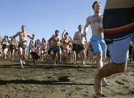 Immersing oneself in icy water — be it the polar bear plunge or the penguin dip — is done throughout the country and across the world, often to ring in the new year.