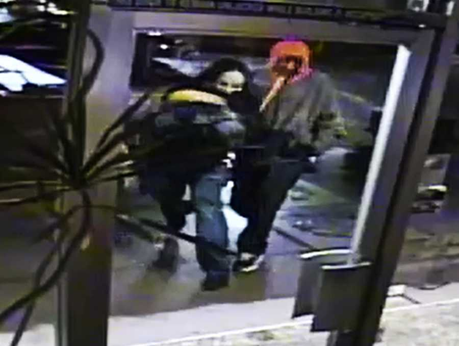 The robbery at Dell Williams Jewelers on Pacific Avenue happened at 4:30 a.m. Saturday. Two thieves partially hid their faces and wore gloves to avoid leaving behind fingerprints.