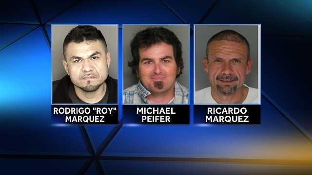 Authorities arrest 3 men on drug charges