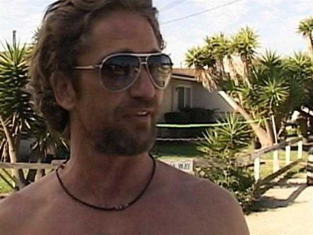 Gerard Butler was almost seriously hurt while filming surf scenes at Mavericks in Half Moon Bay. A set of massive waves held him underwater for as long as he could hold his breath. (Oct. 14, 2011)