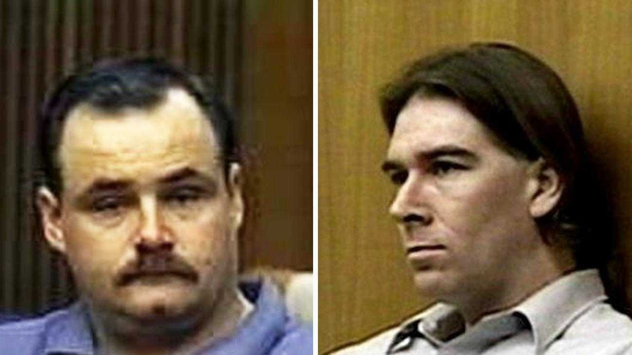 Serial killers Wesley Shermantine, left, and Loren Herzog are pictured.