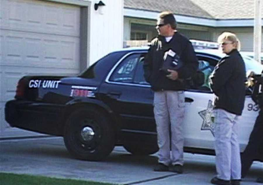 Salinas homicide detectives are seen searching Janet Sorenson's house.