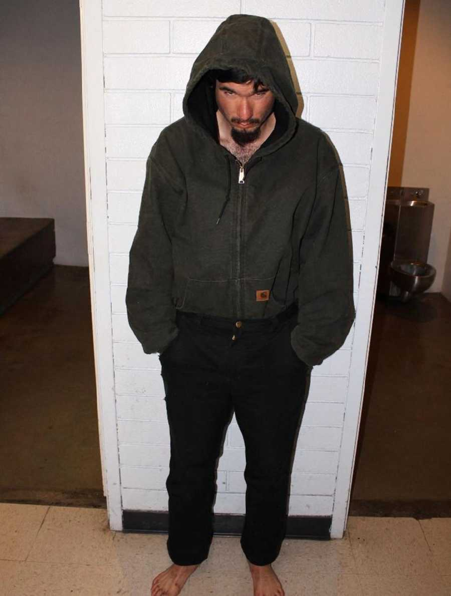 Christopher Sorenson is seen in the Monterey County Jail on Dec. 16, 2011, the night he was arrested.