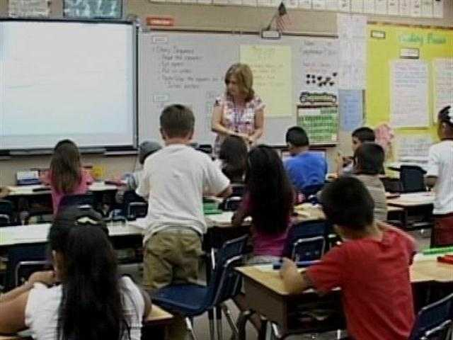 The state is taking away a grant because the school district failed to lower classroom size.