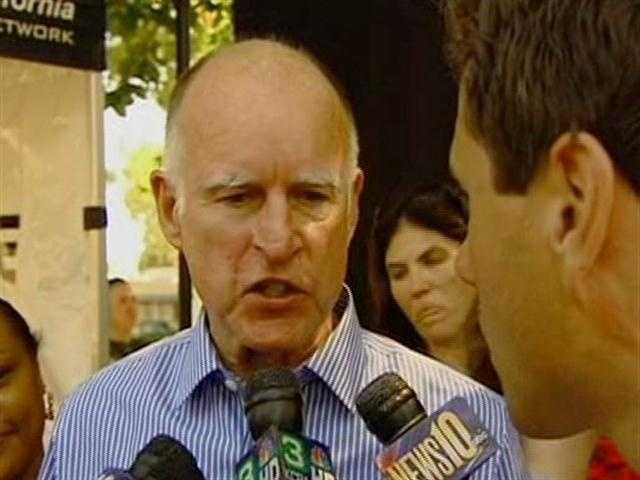 Gov. Jerry Brown spoke to a crowd gathered at Land Park for the annual Labor Day picnic.