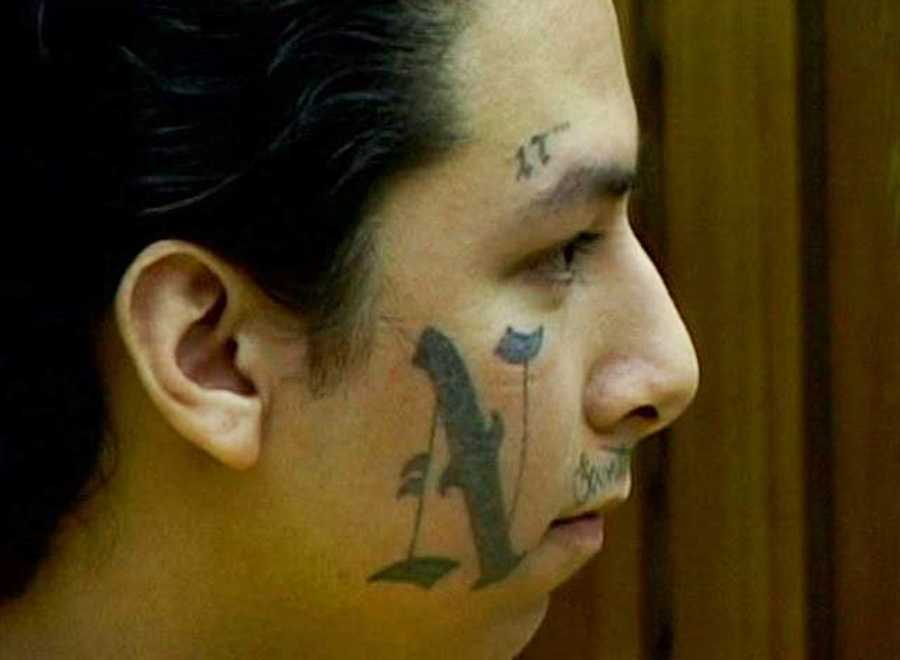 William Galdamez, seen here, and Valencia racked up more charges against them when they jumped a fellow inmate on behalf of a gang while in the Santa Cruz County Jail.