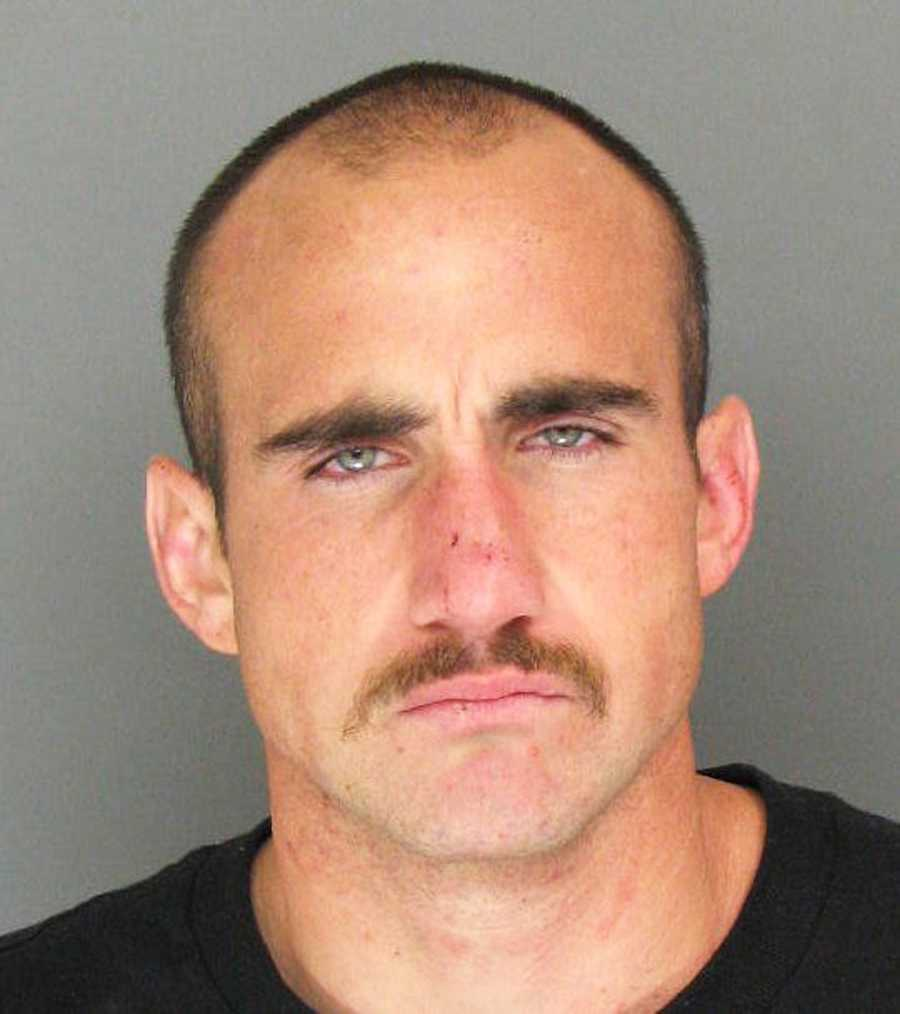Nicholas Daniel Tzimbal, 28, of Watsonvile, is charged wtih domestic violence and is wanted to the California Highway Patrol for violating his parole.