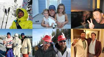 Skiiers Johnny Brenan, Jim Jack and Chris Rudolph were killed by Sunday's avalanche. They are seen with their family and friends in this collague.