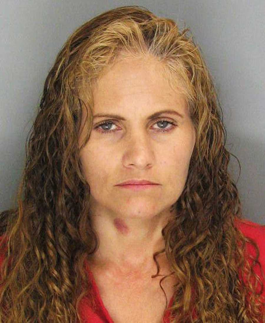 Misty Meza, 47, of Watsonville, was arrested on drug charges.