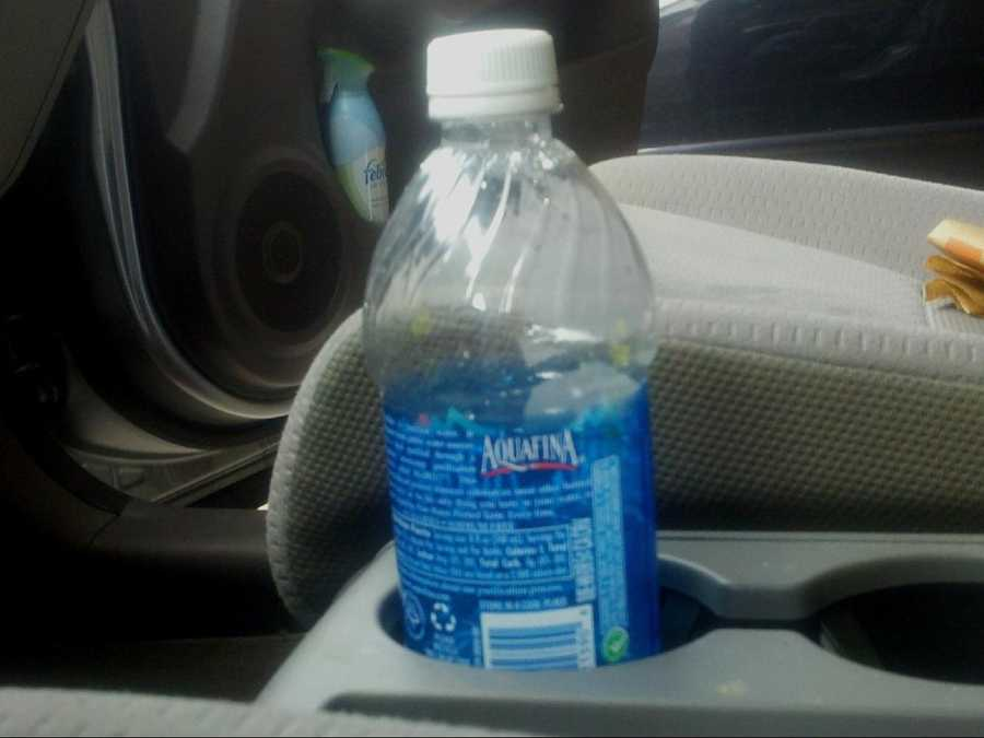 Chemicals used to make bottles could leach into the water if you leave them in hot cars.