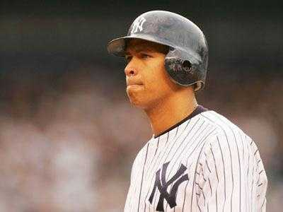 6) Alex Rodriguez: $30,000,000 salary/winnings, $3,500,000 endorsements, $33,500,000 total