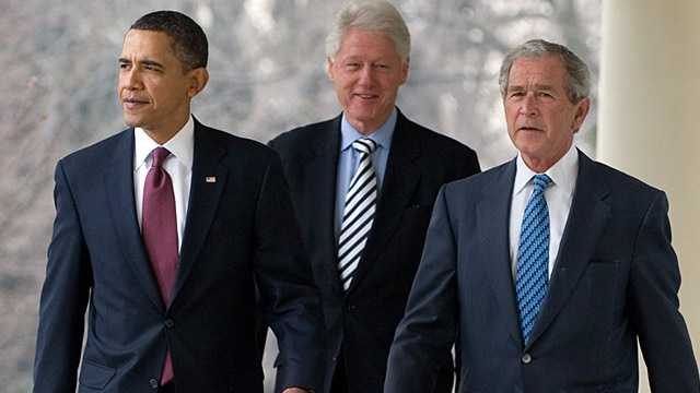 President Barack Obama, George W. Bush, Bill Clinton