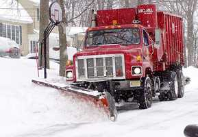 Don't overtake a snow plow truck no matter how much of a hurry you are in. Allow them to do their job so you can get where you are going safely.-National Safety Council