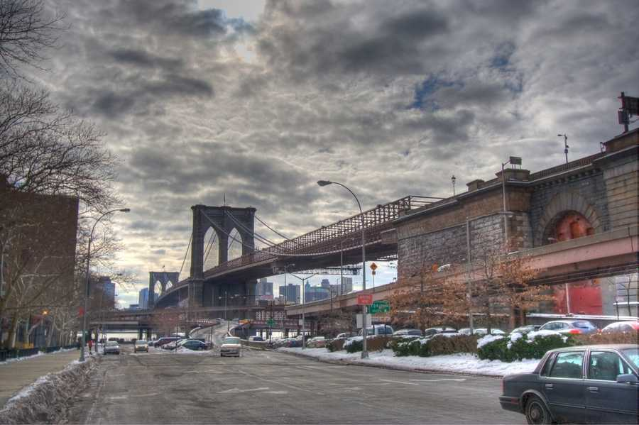 The Brooklyn Bridge in Brooklyn, N.Y.