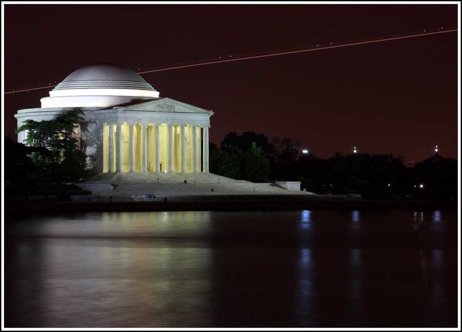 The Jefferson Memorial took five years to build and was completed in 1943.
