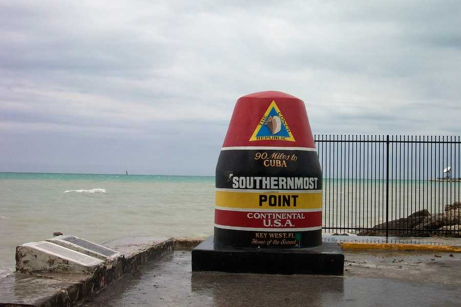 The Southernmost point buoy in Key West, Fla.