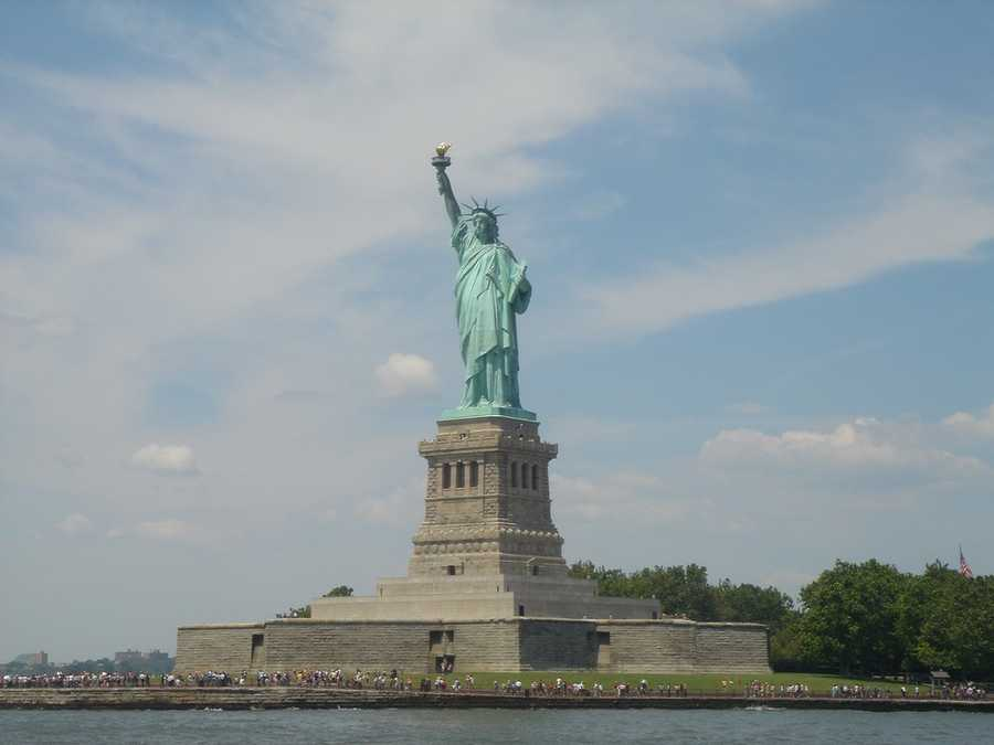 The Statue of Liberty in New York.