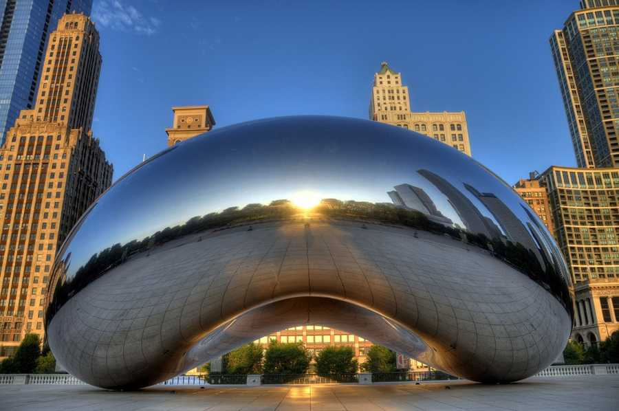It has apparently become a requirement for any of your friends who've visited Chicago to post a picture of Cloud Gate on Facebook.