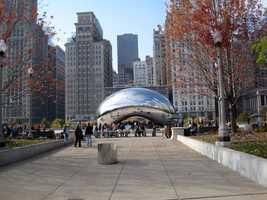 Cloud Gate in Chicago.