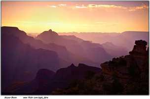 The Grand Canyon in Arizona.