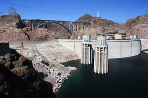 The Hoover Dam, on the Nevada/Arizona border.