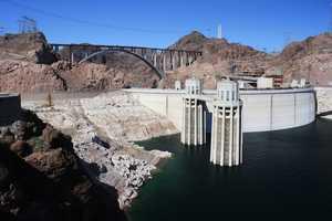 The Hoover Dam, on the Nevada/Arizona border.