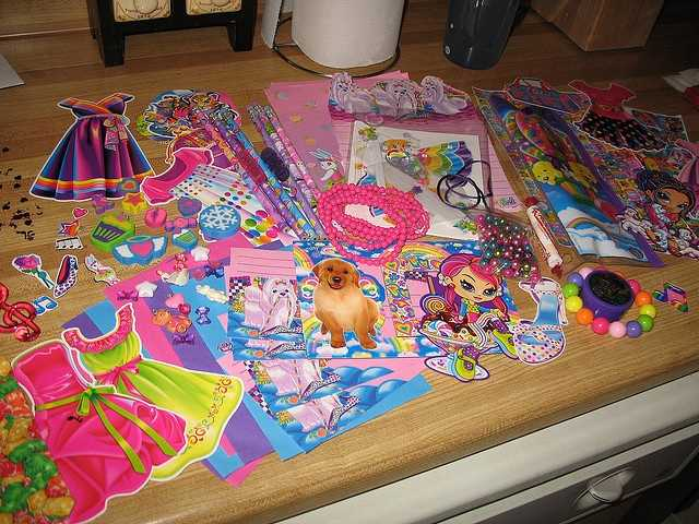 Lisa Frank supplies. If you were a fan of kitties, puppies, rainbows, or unicorns, Lisa Frank was a part of your back-to-school shopping.
