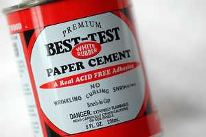 Rubber Cement. This odorous adhesive made its appearance during arts-and-craft times in the classroom.