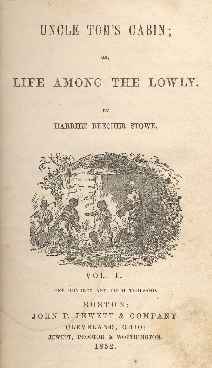 Uncle Tom's Cabin, Harriet Beecher Stowe, 1852 In the South, in the context of the current times, the book was met with outrage and branded an irresponsible book of distortions and overstatements.