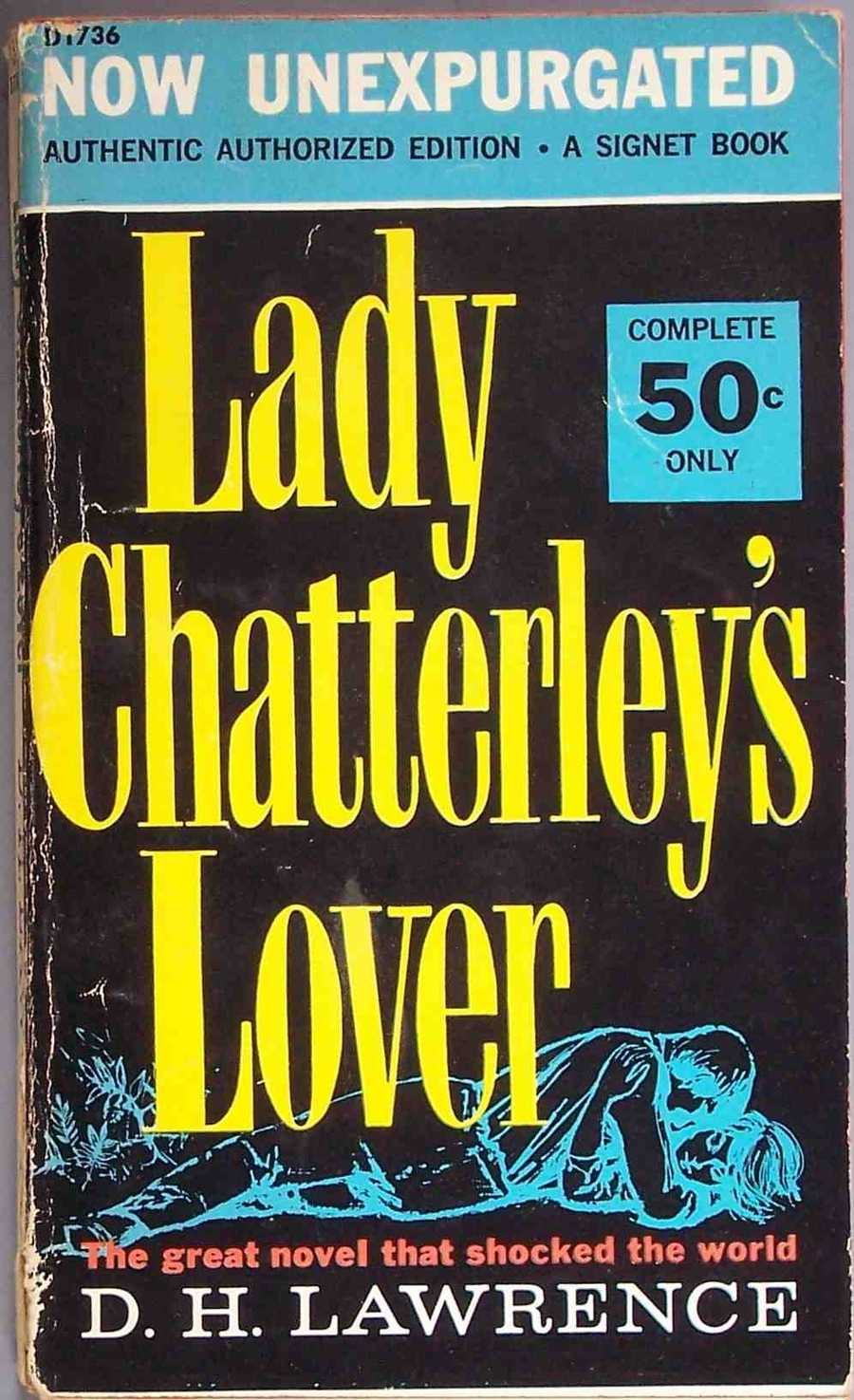 "Lady Chatterley's Lover,  D.H. Lawrence, 1928In 1929 the United States government declared the novel ""obscene"" and the post office barred the novel from being mailed."