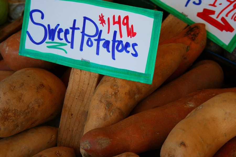 Sweet potatoes and carrots also contain flavonoids.
