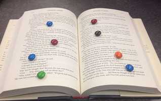 15. Leave an M&M trail to encourage reading.