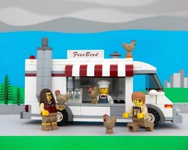 OregonFree-range chickens flee gluten-free hipsters at the FreeBird food truck.