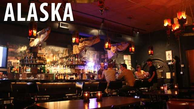 Alaska:If you enjoy going to bars in Alaska, don't think you can get drunk and stay on the premise. It is against the law to get drunk and stay at the bar. (Source: Business Insider)