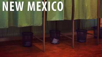 """New Mexico:According to the New Mexico Constitution, """"idiots"""" are not allowed to vote in state elections. When this law was put into place, the term """"idiot"""" was referring to someone who had an IQ below 30. (Source: Business Insider)"""