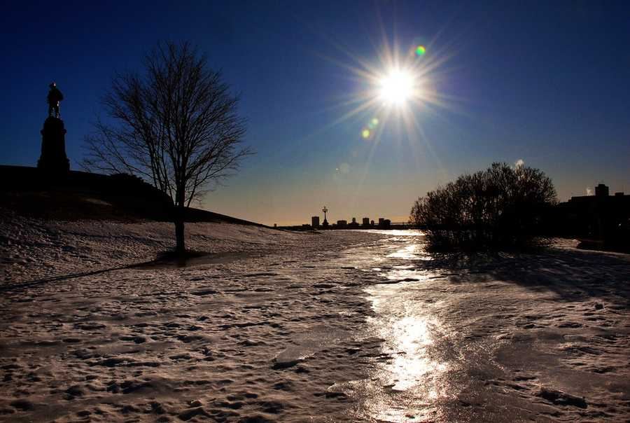 Although we often associate sunburns with the summer, the earth is actually physically closest to the sun during the winter. During the winter in addition to the earth being closest to the sun, we also can have the snow and ice reflecting UV rays, which can give your skin a double dose of exposure. Be sure to wear sunscreen all year round when going outside. (Source: Reader's Digest)