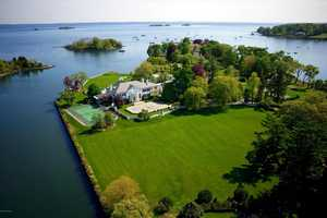 When Donald Trump was married to Ivana they would spend their weekends in this Greenwich, CT home. The home was purchased by the couple in the 1980's and was situated on 5.8 acres of land.