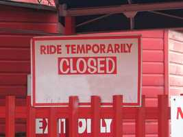 Rides have also been closed for less obvious reasons such as small bugs tripping ride's sensors triggering shutdowns.
