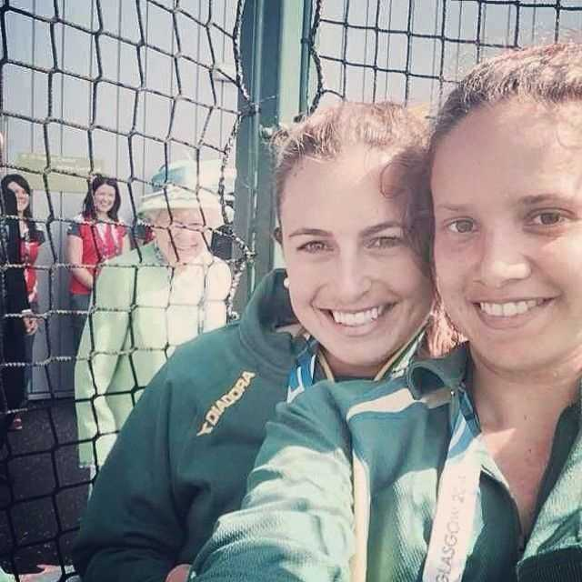 The Queen of England to Two Random GirlsPhotobomb goals, really.