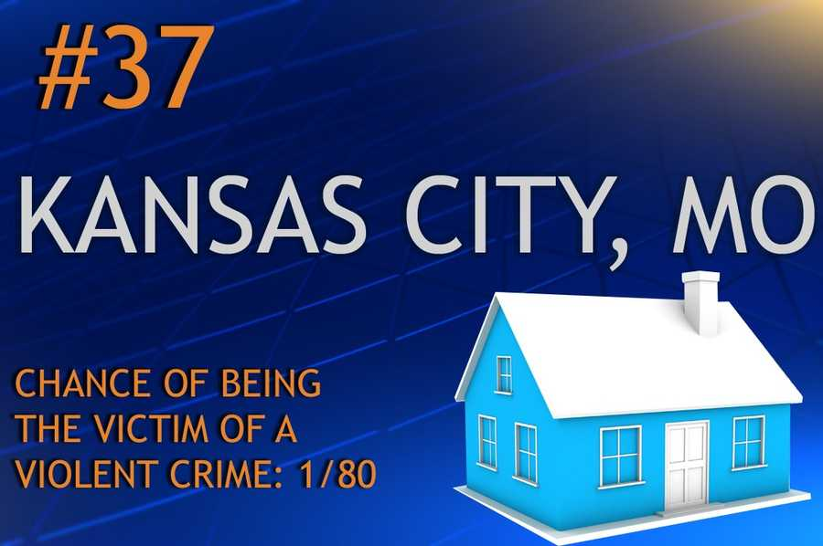 Violent crimes in Kansas City, MOPopulation 446,810MURDER   RAPE   ROBBERY    ASSAULTREPORT TOTAL983771,6653,725RATE PER 1,0000.210.813.577.98