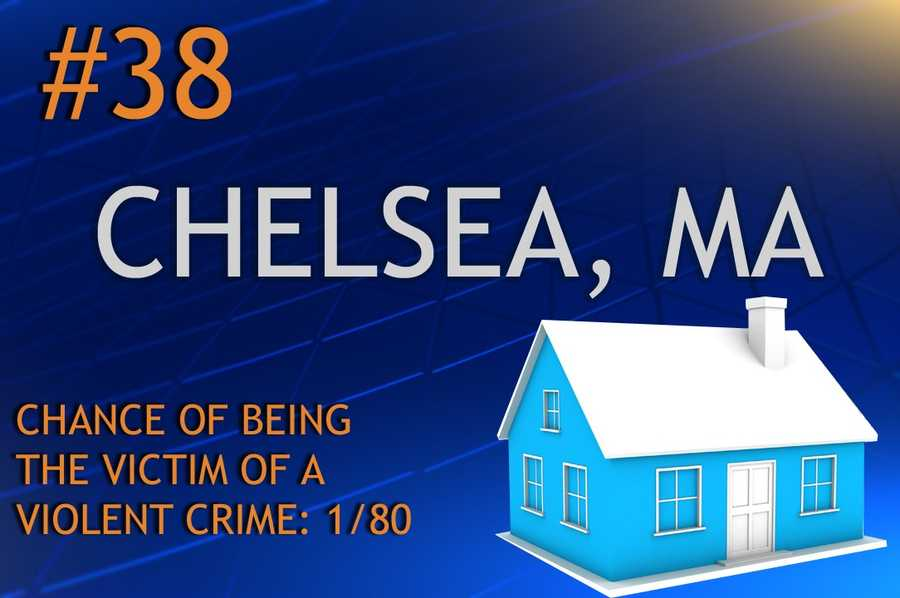 Violent crimes in Chelsea, MAPopulation 37,670MURDER    RAPE    ROBBERY    ASSAULTREPORT TOTAL528184255RATE PER 1,0000.130.744.886.77