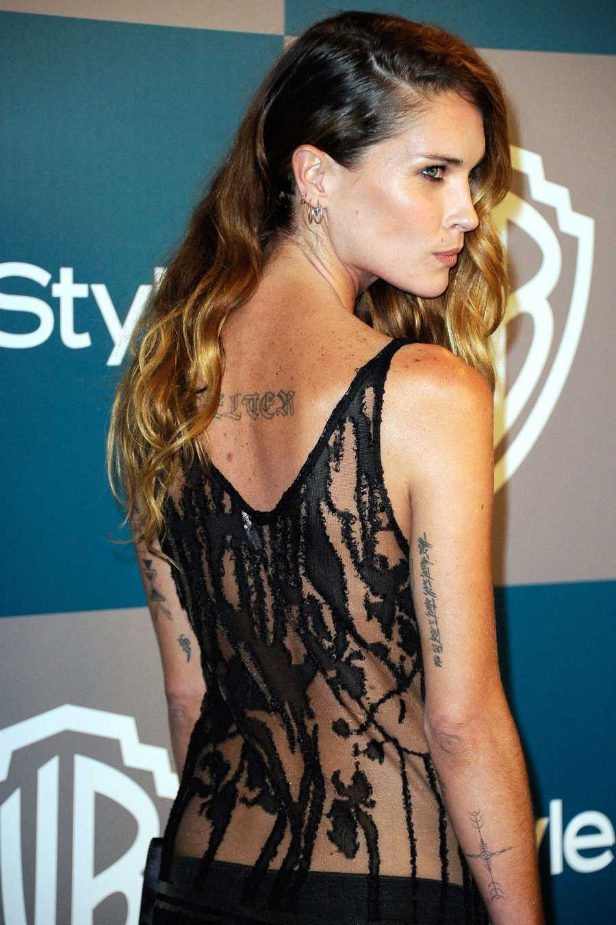 "Erin Wasson""I'm the girl who just thinks up something as I'm walk into a tattoo parlor and I'm getting it an hour later,"" she told Into the Gloss about her numerous tattoos. ""I believe in ornamentation of the body?I believe if you feel it, you should just do it."""