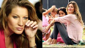 Gisele Bundchen The Brazilian super has a star tattooed on her wrist for her grandmother, as well as a moon and stars on her right ankle.
