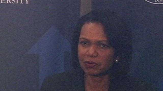 Former Secretary of State Condoleezza Rice spoke at a scholarship benefit at Mississippi College.