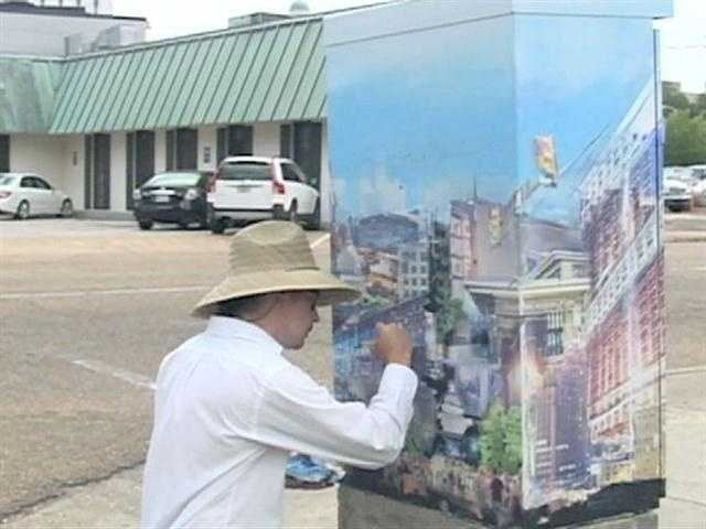 The streets of downtown Jackson are turning into an art gallery.