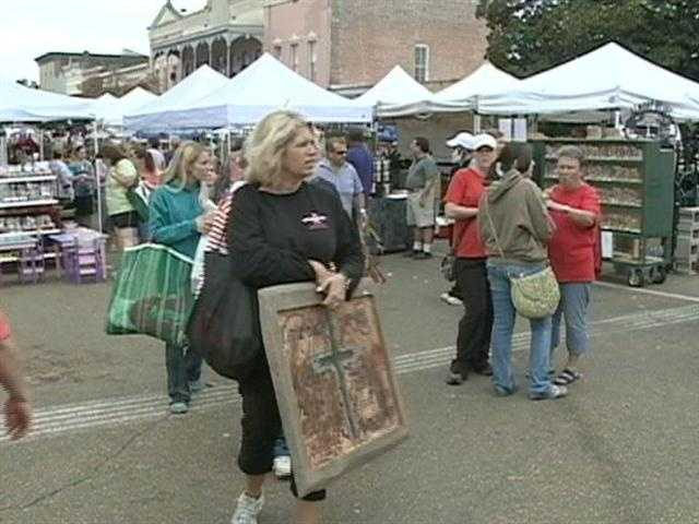Thousands of shoppers flocked to the Canton Flea Market.